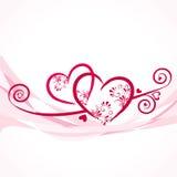 Achtergrond met kleurrijke harten Stock Foto's