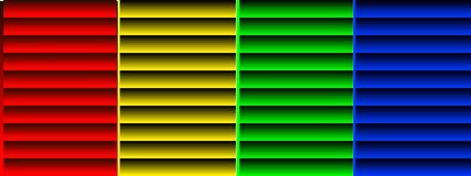 Achtergrond met kleurrijke metaalblinden Stock Foto's