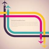 Achtergrond met kleurrijke vliegtuigen Royalty-vrije Stock Afbeelding