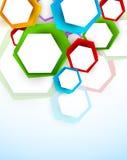 Achtergrond met kleurrijke zeshoeken Royalty-vrije Stock Afbeeldingen
