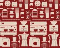 Achtergrond met koffie silhouettesBackground met koffiesilhou Royalty-vrije Stock Afbeeldingen