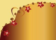 Achtergrond met koffiebonen stock illustratie