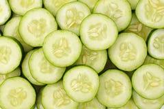 Achtergrond met komkommers Stock Foto