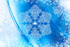 Achtergrond met kristalsneeuwvlok Royalty-vrije Stock Afbeeldingen