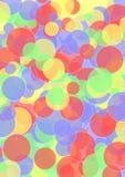Achtergrond met lagen cirkels in heldere kleuren Stock Foto's