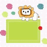Achtergrond met leeuw Stock Fotografie