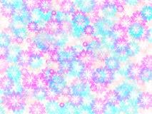 Achtergrond met lichtrose en blauwe bloemen Stock Afbeeldingen