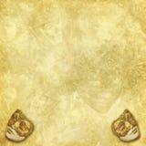 Achtergrond met maskers en bloemenelementen Royalty-vrije Stock Foto's