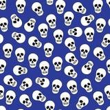 Achtergrond met menselijke schedels Stock Afbeelding