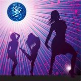 Achtergrond met mensen die in night-club dansen Stock Foto's