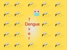 Achtergrond met muggen Stock Foto's