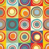 Achtergrond met multicolored cirkels royalty-vrije illustratie