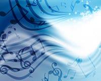 Achtergrond met muziek Stock Foto's