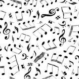 Achtergrond met muziek Royalty-vrije Stock Afbeelding