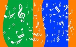 Achtergrond met muzikale aantekening Royalty-vrije Stock Foto's