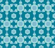 Achtergrond met naadloos patroon in Islamitische of Indische stijl royalty-vrije illustratie