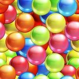 Achtergrond met naadloze ballen Stock Afbeeldingen
