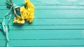 Achtergrond met narcissenbloemen royalty-vrije stock foto