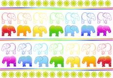 Achtergrond met olifanten Royalty-vrije Stock Afbeelding