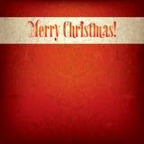 Achtergrond met originele Vrolijke Kerstmis van de doopvonttekst royalty-vrije illustratie