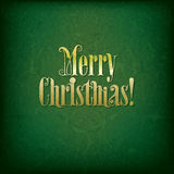 Achtergrond met originele Vrolijke Kerstmis van de doopvonttekst Stock Foto's