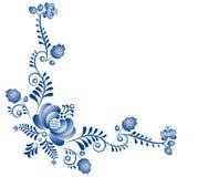 Achtergrond met ornament Gzhel Royalty-vrije Stock Foto