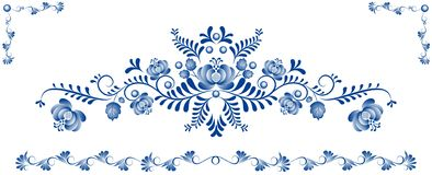 Achtergrond met ornament Gzhel Royalty-vrije Stock Fotografie