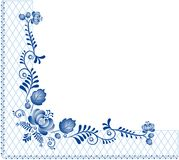 Achtergrond met ornament Gzhel Stock Afbeelding