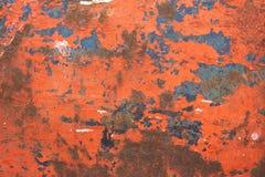 Achtergrond met oude geschilderde metaaloppervlakte Royalty-vrije Stock Foto's