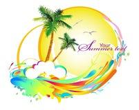 Achtergrond met palmen royalty-vrije illustratie