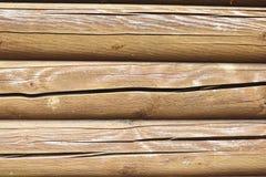 Achtergrond met parallelle houten logboeken Royalty-vrije Stock Afbeeldingen