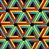 Achtergrond met Penrose-driehoeken Royalty-vrije Stock Afbeelding