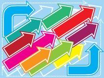 Achtergrond met pijlen Stock Afbeeldingen
