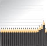 Achtergrond met potloden en lijnen Royalty-vrije Stock Fotografie
