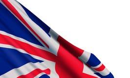 Achtergrond met realistische vlag van het Verenigd Koninkrijk royalty-vrije illustratie