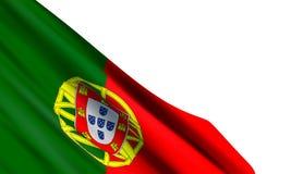 Achtergrond met realistische vlag van Portugal stock illustratie