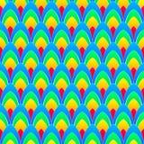 Achtergrond met regenboogellipsen met witte contouren Royalty-vrije Stock Afbeeldingen