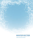 Achtergrond met rijp voor de wintervakantie Royalty-vrije Stock Foto's