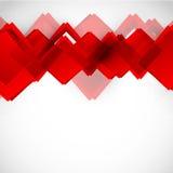Achtergrond met rode vierkanten Royalty-vrije Stock Foto's