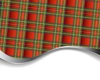 Achtergrond met rood geruite Schotse wollen stof Royalty-vrije Stock Afbeeldingen