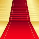 Achtergrond met rood Tapijt Stock Afbeelding