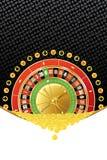 Achtergrond met roulette en muntstukken Royalty-vrije Stock Afbeeldingen