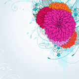 Achtergrond met roze bloemen Royalty-vrije Stock Afbeelding