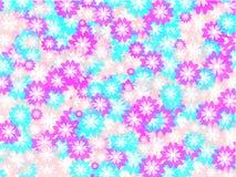 Achtergrond met roze en blauwe bloemen Royalty-vrije Stock Foto's