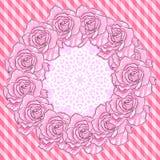 Achtergrond met Roze Rozen royalty-vrije illustratie