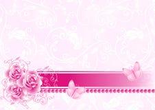 Achtergrond met rozen royalty-vrije illustratie