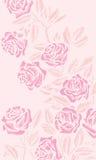 Achtergrond met rozen vector illustratie