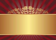 Achtergrond met rozen Royalty-vrije Stock Foto's