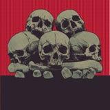 Achtergrond met schedels Royalty-vrije Stock Foto's