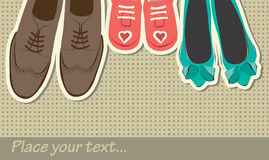 Achtergrond met schoenen Stock Foto